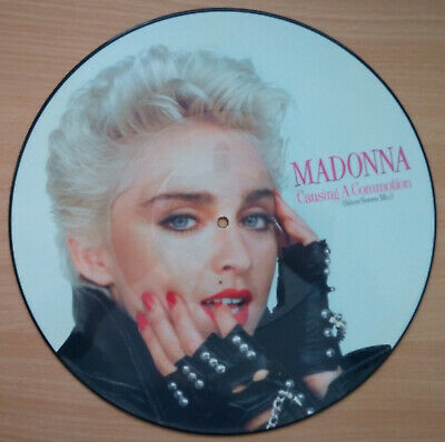 12  PICTURE DISC, RECORD, VINYL,LP, MADONNA - CAUSING A COMMOTION Inc Origsleeve • 18.99£