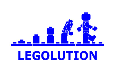LEGO EVOLUTION VINYL DECAL Laptop Window Door Wall Car Sticker • 3.85£