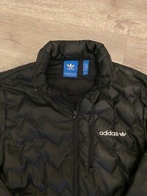 Men's Adidas Originals Small Quilted Bomber Jacket In Black • 5.95£