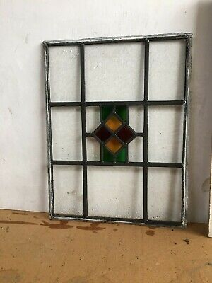 Vintage Leaded Window Panel Stained Glass Panel  • 10£