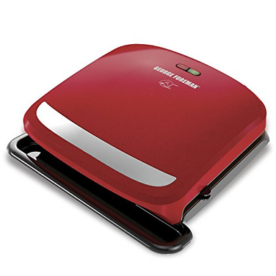 George Foreman 4-Serving Removable Plate Grill And Panini Press, Red, GRP360R • 39.48£