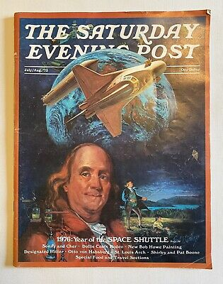 $ CDN12.70 • Buy Saturday Evening Post Magazine Norman Rockwell Space Shuttle Sonny & Cher 1973