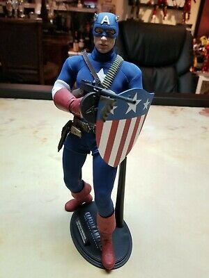 $ CDN403.84 • Buy Hot Toys Captain America Star Spangled MMS 205 Sideshow Exclusive 1/6 Scale