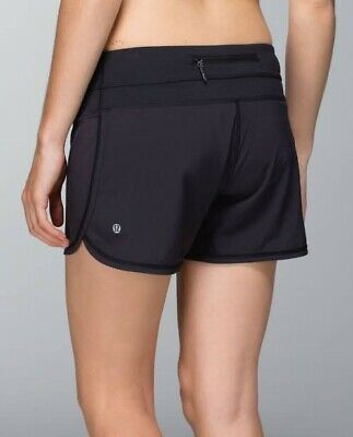 $ CDN14.71 • Buy Lululemon Groovy Run Shorts Size 8 CAN (12 AUS) Black With Block It Pocket RRP65