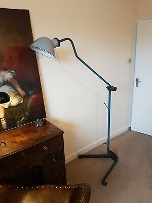 Vintage Floor Standing Industrial Angle Poise Lamp • 135£