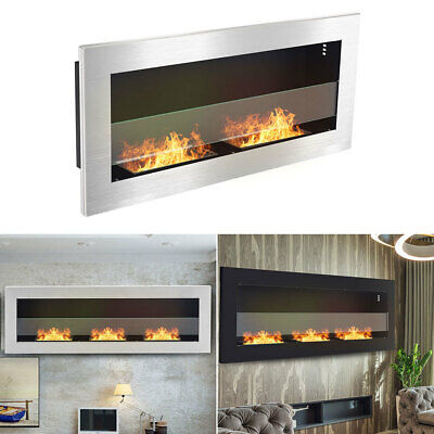 Wall/Insert Mounted Bio Ethanol Fireplace Stove With 2/3 Fire Burners In/Outdoor • 289.95£