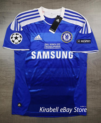 Chelsea 2011 2012 FINAL Champion League Home Retro Soccer Jersey • 33.62£