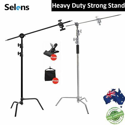 AU179.88 • Buy 11ft C Stand On Turtle Base Kit With Grip Arm & Gobo Heads & Sandbag&Strong Clip