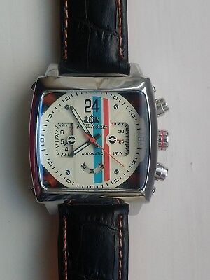 Mens Watch Racing Le Mans Steve McQueen Monaco  Porsche Gulf  Goodwood Mens Box  • 89£