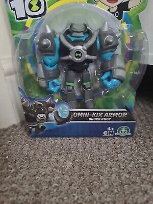 Ben 10 - Omni Kix Armor Shock Rock 5  Action Figure By Playmates Toys BRAND NEW • 10£