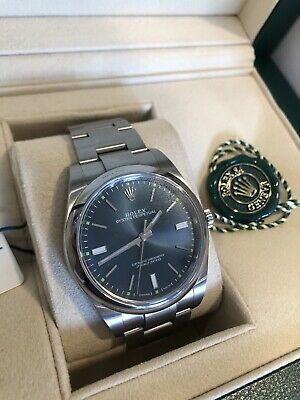 Rolex Oyster Perpetual 39mm Blue- 114300 -2019 Box, Cards, Tags 👍MINT👍 • 5,795£
