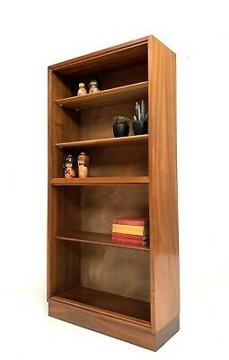 MORRIS OF GLASGOW COMPACT VINTAGE RETRO BOOKCASE / DISPLAY CABINET SHELVES 1960s • 195£