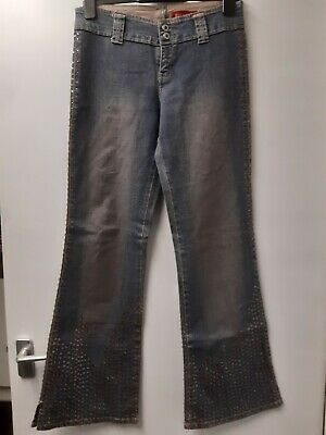 River Island Flare Sequin Stretch Jeans Trousers Size 12 • 2.80£