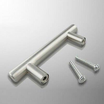 AU8.24 • Buy 1xØ12mm Stainless Steel Brushed Nickel Kitchen Door Cabinet T Bar Handle Pull
