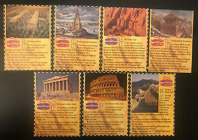 Kelloggs Wonders Of The World X 7 Cards • 0.99£
