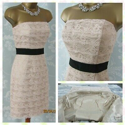 🎀 Strapless Layered Lace Dress UK8 EUR 36 🎀 Evening Party Clubbing Occasion • 2.50£