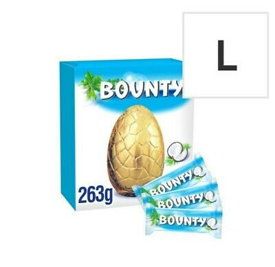 Bounty Milk Chocolate Easter Egg With 3 Fun Size Bars - 263G • 10.39£