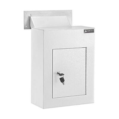 $136.21 • Buy Through The Wall Drop Box Locking Adjustable Chute Mail Receptacle White Steel