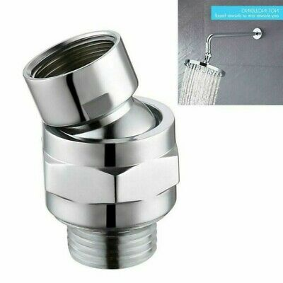 1 X Adjustable Shower Connector Ball Joint Shower Head Swivel Ball Adapter Brass • 12.36£