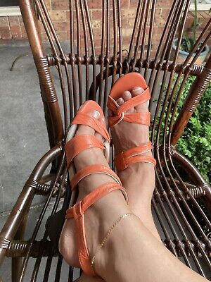 AU56 • Buy Ziera-peach Low Heel Sandals- Size Eu 40 Or Au 9