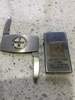 AU22.06 • Buy ZIPPO ,  Vintage Lighter 1960 Or 70s   &  Pocket Knife