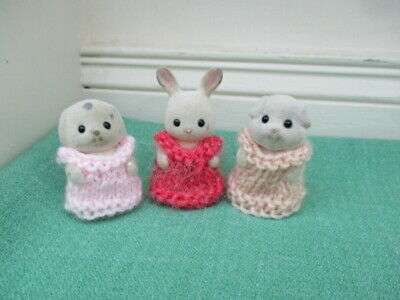 Sylvanian Families Clothes ~ Hand Knitted Dresses For Babies • 3.65£