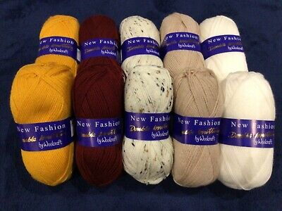 Double Knitting Wool Natural Rich  Tone Pack - 10x 100g Balls DK Assorted • 16.99£