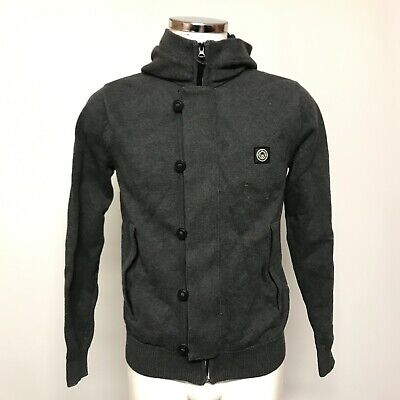 Duck And Cover Hoodie Jacket UK S Men's Grey Knit Hooded Zip Up Casual 433188 • 7.50£