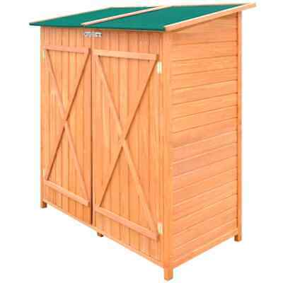 VidaXL Wooden Shed Garden Tool Shed Storage Room Large Outdoor Cabin House • 231.99£
