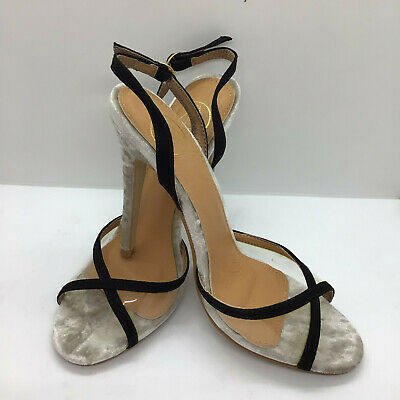 Womens Size 5 Missguided Strappy Shoes Sandals Black And Neutral Ladies • 5.95£