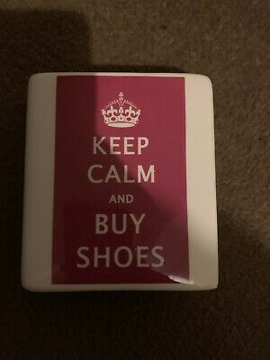Keep Calm And Buy Shoes Novelty Ceramic Money Box • 4.40£