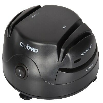 $26.25 • Buy Chef PRO Compact 3-in-1 Electric Knife Sharpener System, Black