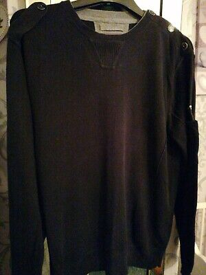 Men's Size L DUCK AND COVER JUMPER BLACK • 3.49£