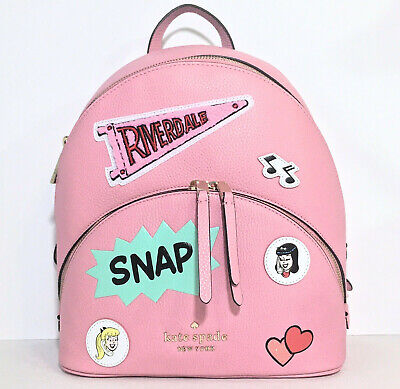 $ CDN227.16 • Buy Kate Spade Backpack Bag Pink Leather Archie Comics Betty & Veronica NWT $389