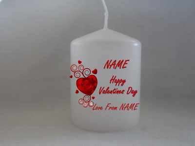 Personalised Valentines Gifts For Boyfriend For Him For Husband Romantic Candle • 6.99£