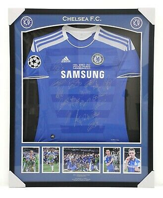 AU836.07 • Buy Chelsea FC 2012 UEFA Champions League Team Signed & Framed Jersey With COA