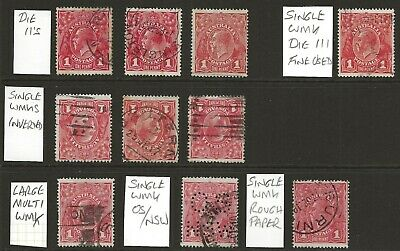 AU6.50 • Buy KGV     GROUP Of 1d  RED'S  VARIOUS WMK'S Incl. INVERTED ALSO DIE 2's & A DIE 3