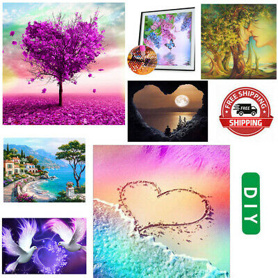 AU12.29 • Buy 5D DIY Full Drill Square Diamond Painting Valentines Day Cross Stitch Embroider