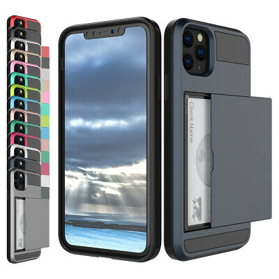 AU10.92 • Buy For IPhone 12 Pro Max Mini 11 X XS 7 8 Hybrid Hard Case With Credit Card Holder