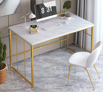 Computer Desk PC Laptop Writing Workstation Marble Table Filing Cabinet Lockable • 105.99£