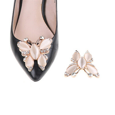 1PC Crystal Rhinestones Opal Shoe Clips Women Bridal Prom Shoes Buckle Deco PM • 3.13£