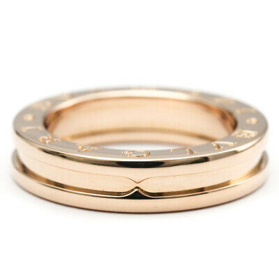 AU1057 • Buy Polished BVLGARI B-ZERO1 Ring XS Size #50 US 5.5 18K Pink Gold PG BF520821