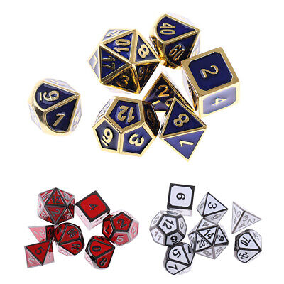 AU14.39 • Buy Pack Of 7 Multi Side Dices D4 D6 D8 D10 D12 D20 D4-D20 For Roleplaying Game