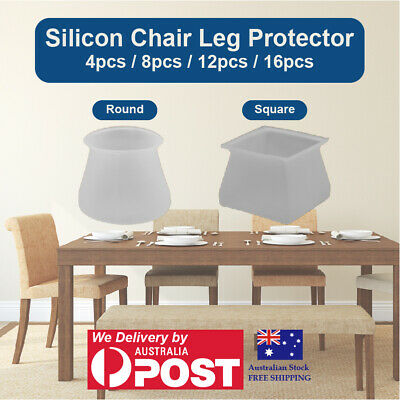 AU12.95 • Buy Chair Leg Protector Silicon Cover Pad Table Chair Feet Wood Floor Protection Cap