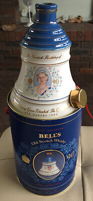 Vintage Wade Bells Scotch Whisky Decanter 50cl - Queen Mother's 90th Birthday • 10£