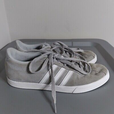 $ CDN19.23 • Buy Adidas Courtset Women's Size 9 Shoes Gray/White Suede Classic Sneakers AW4209
