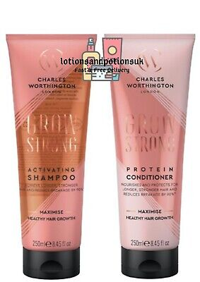 £18.50 • Buy Charles Worthington GROW STRONG Shampoo And Conditioner 250ml