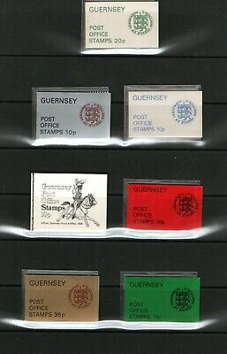 Stamps. Guernsey. 7 Complete Booklets. • 1£