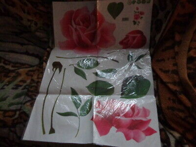 Rose Wall Art Stickers Decals Graphic Leaves Roses • 5.99£
