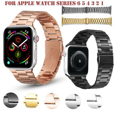 $ CDN18.37 • Buy For Apple Watch Series 6 5 4 3 2 1 SE Stainless Steel Replacement Band Strap New